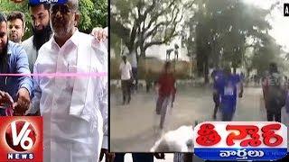 Karnataka Minister GT Devegowda Falls Down While Running In Marathon - Teenmaar News - netivaarthalu.com