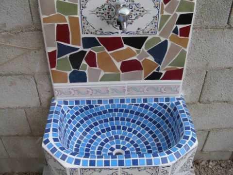 Fuente pileta fregadero aguamanil grifo de jardin con for Como construir una pileta de hormigon