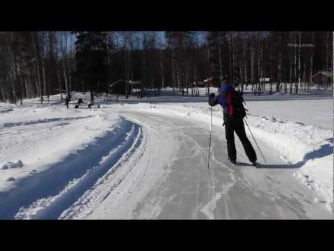Tour Ice Skating National Park Linnansaari Oravi Finland