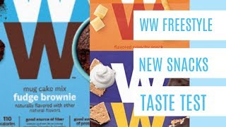 WW Freestyle - New Snacks - Taste Test!