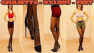 Model Giulietta FullHD Nylons Pantyhose Feet Collant Strumpfhose on Channel 21