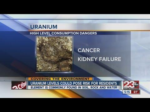 Kern Co. uranium levels in water