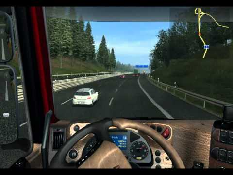 German Truck Simulator Stuttgart to Frankfurt [tuning to livestream radio]