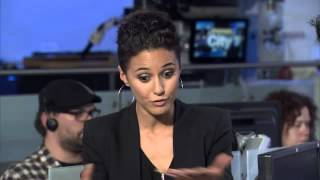 Raw video: Actress Emmanuelle Chriqui on future