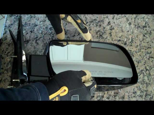 How to Repair and Replace a Broken Side Mirror Glass - DIY ...