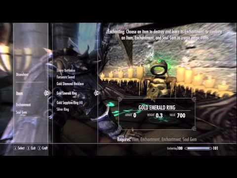 Skyrim: Using Enchanting To Eliminate Mana Costs