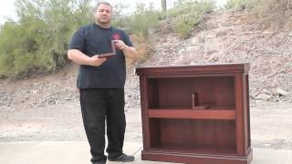 Bookshelf with secret hidden compartment by Top Secret Furniture