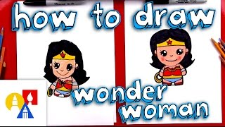 How To Draw Cartoon Wonder Woman