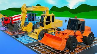 Learn Colors with Construction Trucks for Kids - Colors with Excavator, Dump Truck, Bulldozer