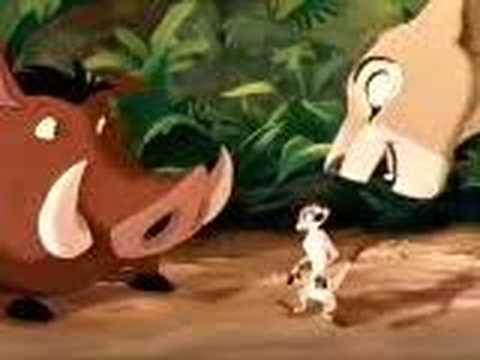Nala chasing pumba Video