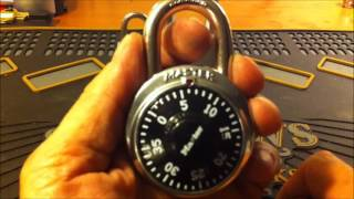 (20) Decoding a Dial Combination Master Pad Lock (The fast and easy way))