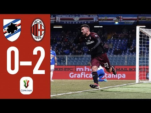 Highlights Sampdoria 0-0 (0-2 AET) AC Milan - Coppa Italia 2018/19 Round of 16