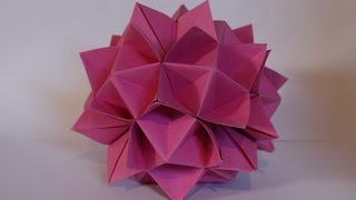 Origami Spiky Ball (cuboctahedron) (hd)