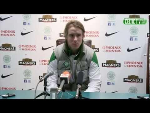 Celtic - Stefan Johansen Post-match v Aberdeen, 03/02/2014
