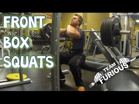 Heavy Front Box Squats (w/ Broken Toe) | Furious Pete Image 1