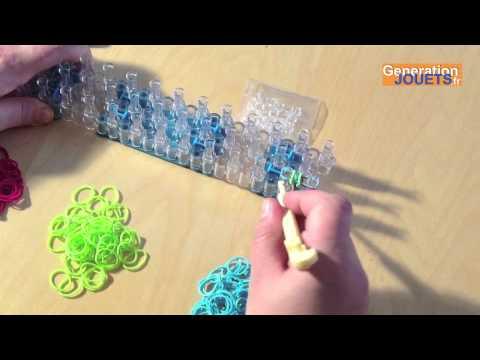 Cr er un bracelet en lastique rainbow loom - Comment faire un bracelet en elastique ...