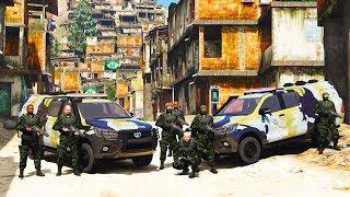 GTA V VIDA POLICIAL - EQUIPE DO C.O.E. INVADE FAVELA  - LSPDFR - ‹ OLD BOB ›