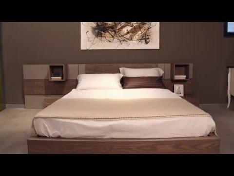 Letti moderni PLAN SYSTEM – letto di design componibile con boiserie modulare