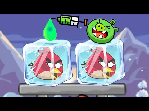 Unfreeze Angry Birds - DROPPING COLOR WATER TO BREAK ICE CUBE!