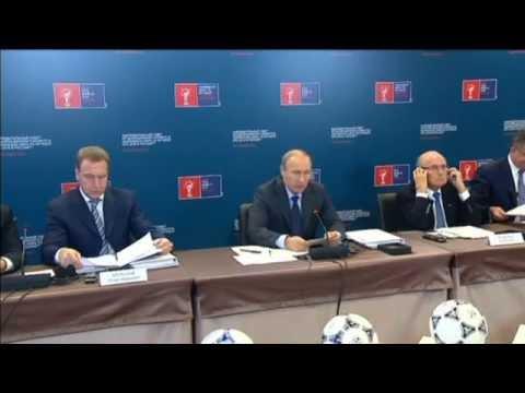 Putin Hosts Chief FIFA: Blatter says Russia will not lose World Cup despite Putin regime criticism
