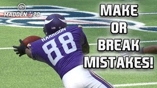 Make or Break Mistakes! Madden NFL 20 MUT Squads