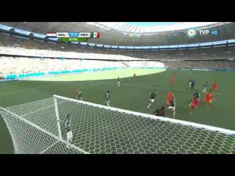 holanda vs mexico 2 1 Brasil 2014 tv publica