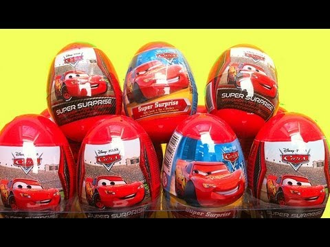 ★★★★4 Disney Cars 2 Easter Eggs Unwrapping Surprise Toys Pixar Lightning McQueen Mater