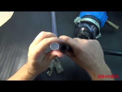 Трубки для подводного плавания своими руками