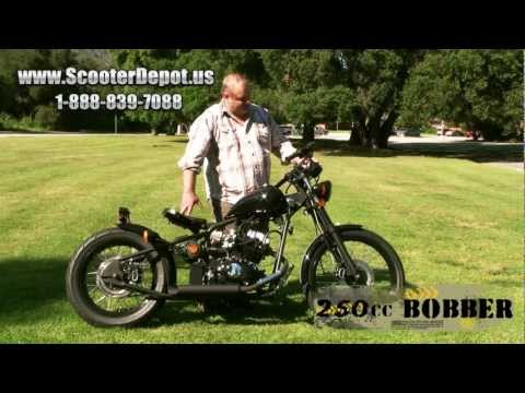 MC_D250RTB. Sunny 250cc Old School Bobber Style street bike at ScooterDepot.us for $ 2.399