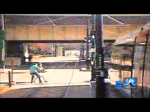 Raw video from HRT shows light rail accident