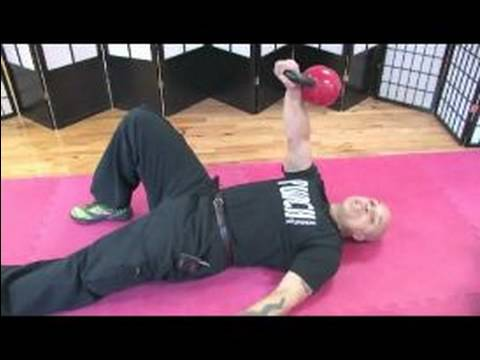 Kettlebell Workouts and Exercises : How to go a Turkish Get Up Exercise with Kettlebells Image 1