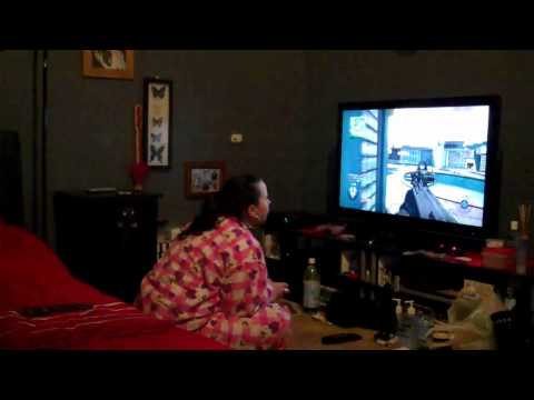A GIRL GETS GAME RAGE PLAYING BLACK OPS