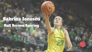 Sabrina Ionescu - Oregon Ducks - Ball Screen Scoring