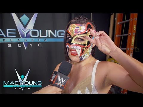 Zeuxis celebrates her huge win over Aerial Monroe in the First Round: WWE Exclusive, Sept. 12, 2018