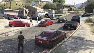 Grand Theft Auto V Online (360)   Street Car Meet Pt.12   Road Trip, Drag Racing, Cops & More