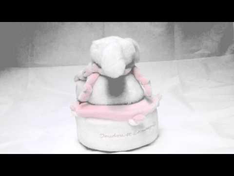 Boite à musique Lapin bonbon rose Doudou et Compagnie - Une cuillère pour doudou