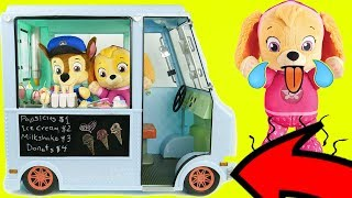 Paw Patrol Ice Cream Truck Refrigerator Fridge Supermarket Shopping Pig Toddlers Learning Kids Rocks