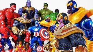 Thanos & Avengers Hulk, Go~! Captain America, Spider Man, Iron Man, Hulkbuster