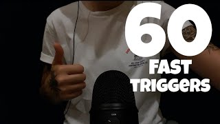 ASMR 60 fast Triggers In 12 Minutes (No Talking)
