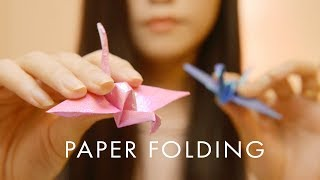 ASMR Close Up Paper Sounds - Folding, Scratching, Rubbing, Crinkle (No Talking)