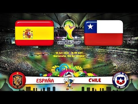 España vs Chile Mundial 2014