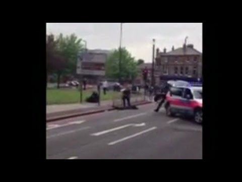 Cell phone video shows London attack scene