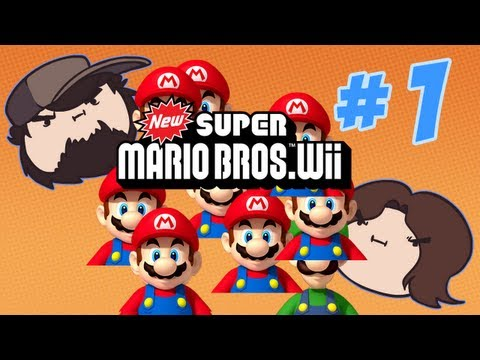 New Super Mario Bros Wii - I want DAT one! - PART 1 - Game Grumps