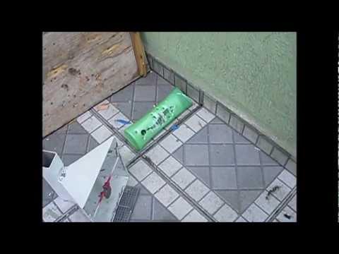tiro de airgun de Hatsan 125 5.5mm gás ram 75kg  Vs. Moeda de 1Real