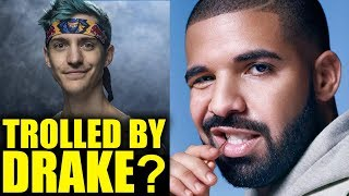 Someone Hacked Drake's Fortnite Account, And Used It To Troll Ninja