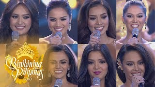 Binibining Pilipinas 2018: Top 8-15 Question & Answer Portion