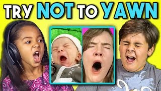 KIDS REACT TO TRY TO WATCH THIS WITHOUT YAWNING CHALLENGE