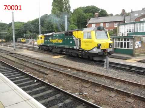 Passenger and Freight trains at Ipswich including Freightliners to and from the Port of Felixstowe to the Midlands and London, National Express services with...