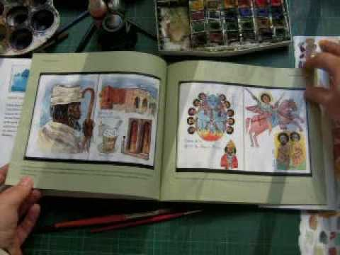 Ethiopia Travel Journal with watercolor