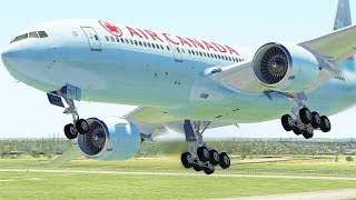 Boeing 777 Air Canada Emergency Landing After Turbulence On Flight (HD) | X-Plane 11